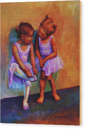 Ballerina Secrets Wood Print by Jeanne Young
