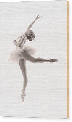 Ballerina Wood Print by Steve Williams