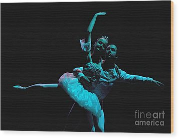 Ballet 1 Wood Print by Reb Frost