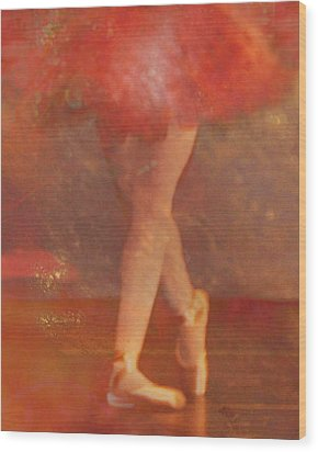 Ballet Dancer Wood Print by Catherine Alfidi