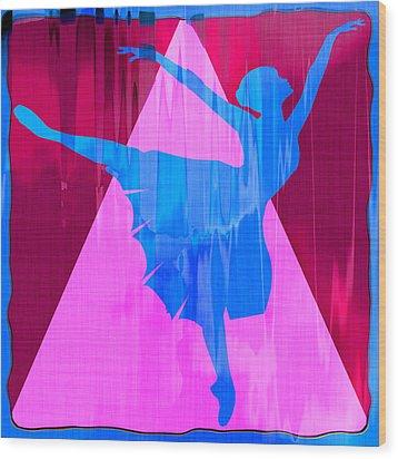 Ballet Dancer Wood Print by David G Paul