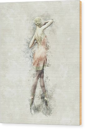 Wood Print featuring the digital art Ballet Dancer by Shanina Conway