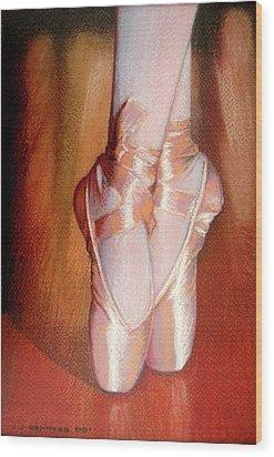 Ballet Wood Print by J- J- Espinoza