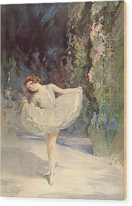 Ballet Wood Print by Septimus Edwin Scott
