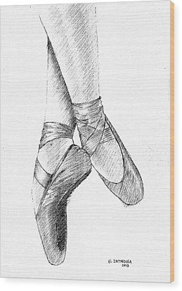 Ballet Shoes Wood Print by Al Intindola