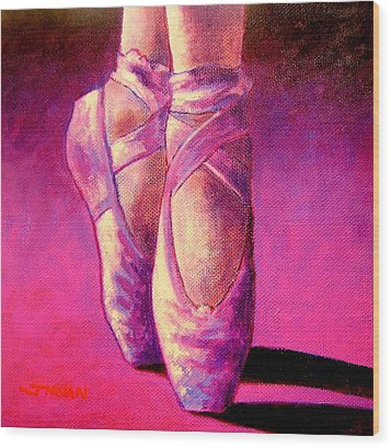 Ballet Shoes  II Wood Print by John  Nolan