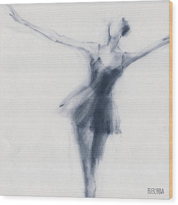 Ballet Sketch Dying Swan Wood Print by Beverly Brown