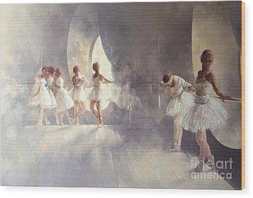 Ballet Studio  Wood Print by Peter Miller