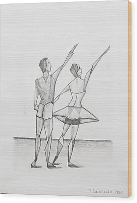 Ballet Wood Print by Tamara Savchenko