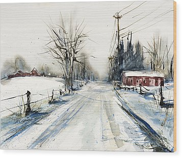 Ballina Road Wood Print by Judith Levins