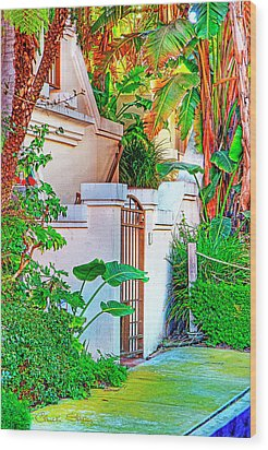Wood Print featuring the photograph Ballona Lagoon Gate by Chuck Staley