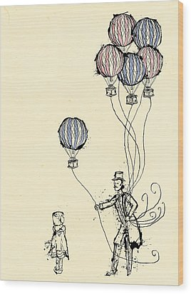 Ballons For Sale Wood Print by William Addison