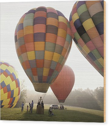 Balloon Day Is A Happy Day Wood Print by Rob Travis