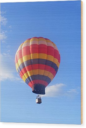 Balloon In Flight Wood Print by Eddie Armstrong