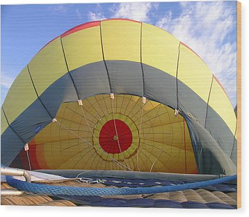 Balloon Inflation Wood Print by Jim DeLillo