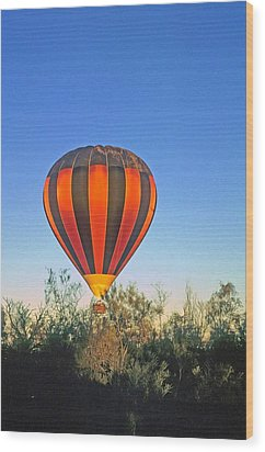 Wood Print featuring the photograph Balloon Launch by Gary Wonning