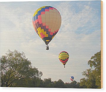 Balloon Race Wood Print by Luciana Seymour