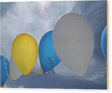 Balloons Wood Print by Patrick M Lynch