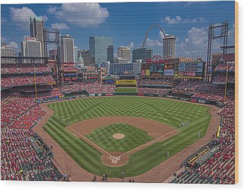 Ballpark Village Cardinal Nation Busch Stadum St. Louis Cardinals April 2015 #2 Wood Print by David Haskett
