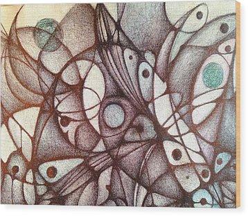 Ballpoint On Canvas  Wood Print