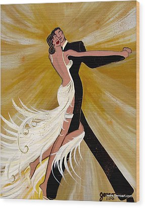 Ballroom Dance Wood Print by Helen Gerro