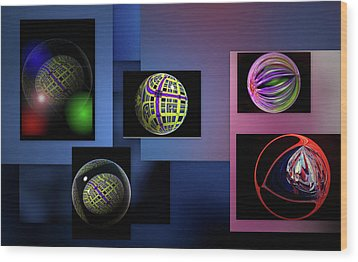 Wood Print featuring the photograph Balls Afloat by Irma BACKELANT GALLERIES