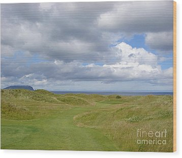 Ballyliffin Ireland Golf 1 Wood Print by Jan Daniels