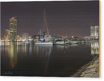 Baltimore Boat Yard Wood Print by Shane Psaltis