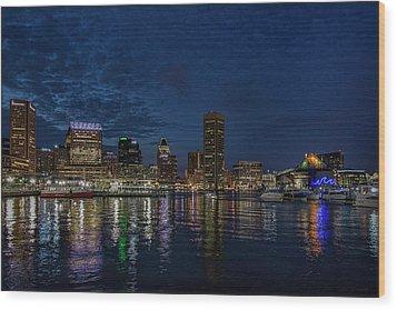 Baltimore Harbor Wood Print
