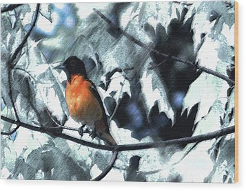 Baltimore Orioles Dream Wood Print by Nancy TeWinkel Lauren