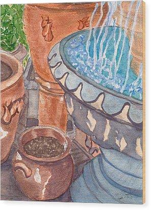 Baltimore Pots Wood Print by Joan Zepf