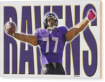 Wood Print featuring the digital art Baltimore Ravens by Stephen Younts