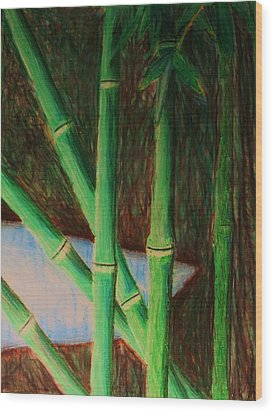 Bamboo Forest Wood Print by Bruce Byrnes
