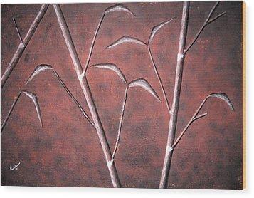 Bamboo Garden Wood Print by Edwin Alverio