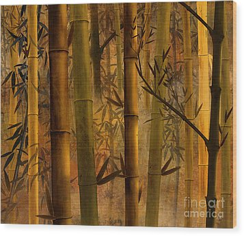 Bamboo Heaven Wood Print by Peter Awax