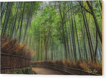 Wood Print featuring the photograph Bamboo Path by Rikk Flohr