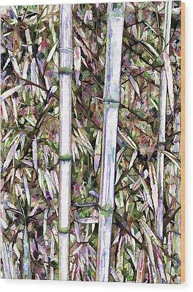 Bamboo Stalks Wood Print by Lanjee Chee