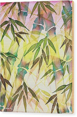 Bamboo Sunrise Wood Print