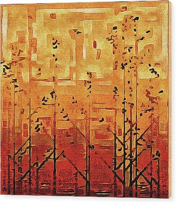 Bamboo Wood Print by Susan Maxwell Schmidt