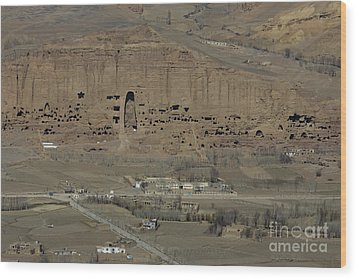 Bamiyan's Empty Alcoves Wood Print by Tim Grams