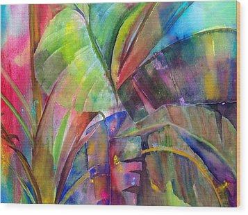 Banana Leaves IIi Wood Print by Maritza Bermudez