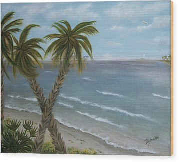 Wood Print featuring the painting Banana River by Dawn Harrell