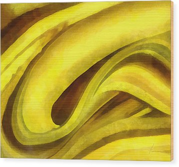 Banana With Chocolate Wood Print