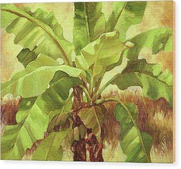 Bananas At Casa Cielo Wood Print by Monica Linville