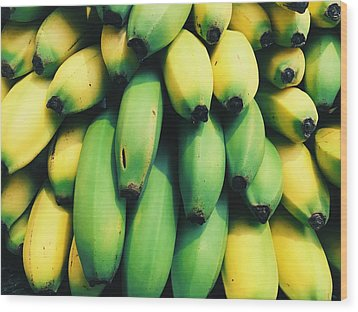 Bananas Wood Print by Happy Home Artistry