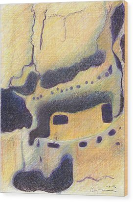 Bandelier I Wood Print by Harriet Emerson