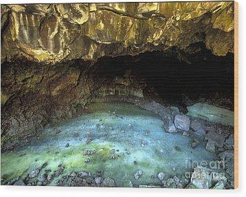 Bandera Ice Cave Wood Print by Sandra Bronstein