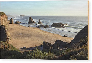 Bandon Beachfront Wood Print by Athena Mckinzie