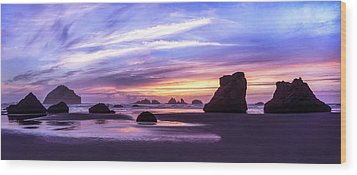 Bandon On Fire Wood Print