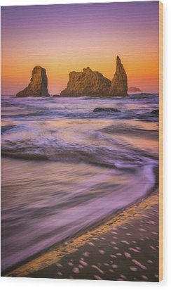 Wood Print featuring the photograph Bandon's Breath by Darren White